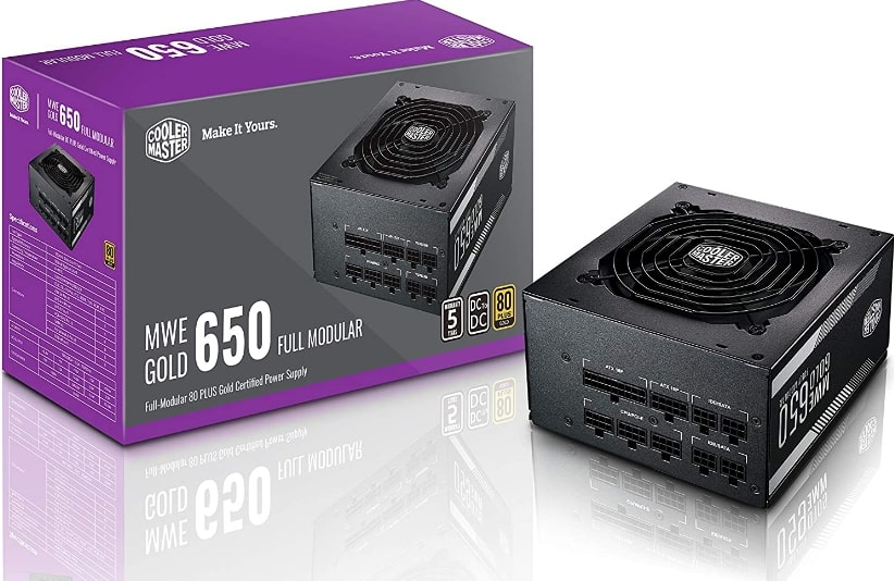 Cooler Master MWE Gold Certified 650W – Recommended PSU for GTX 1070