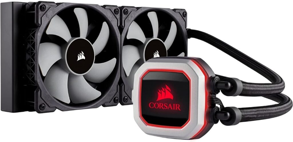 Corsair Hydro Series H100i PRO RGB – Best air Cooler for Overclocking i7 8700k